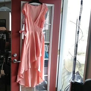 Dresses & Skirts - High low wrap dress
